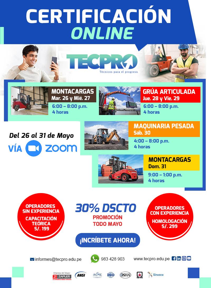 capacitación_certificación_operadores_maquinaria_pesada_montacargas_grua_minicargador